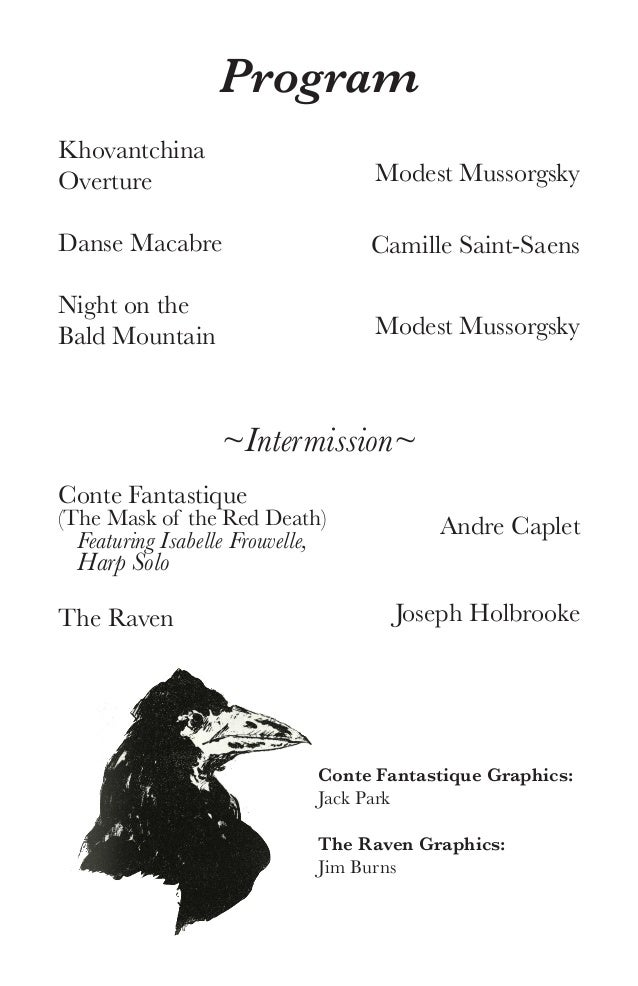 Halloween Concert Program 2016