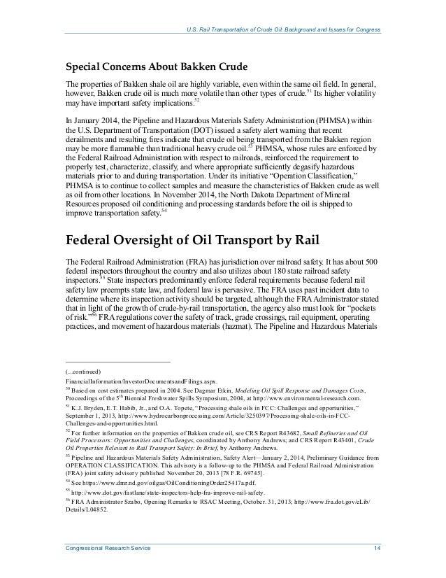 R43390 Rail Transport of Crude Oil