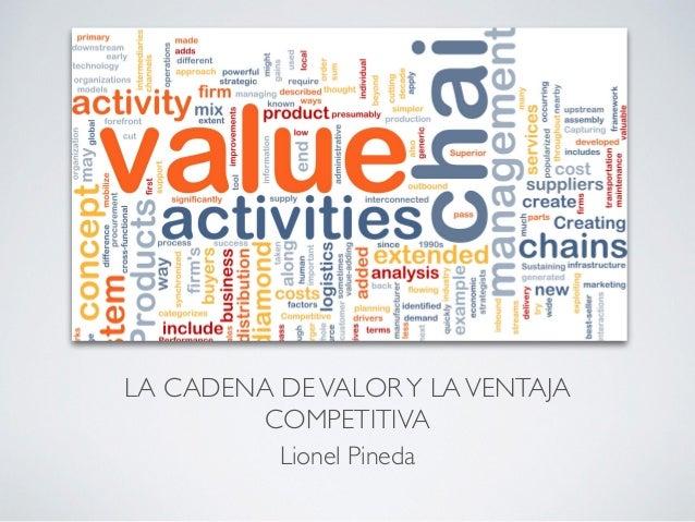 LA CADENA DEVALORY LAVENTAJA COMPETITIVA Lionel Pineda