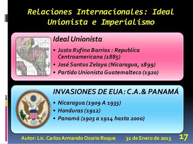 4 cambios pol ticos y sociales en america central 1870 a 1930 for Relaciones exteriores honduras
