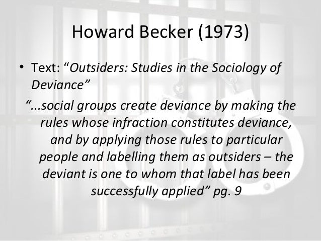 The outsiders howard becker