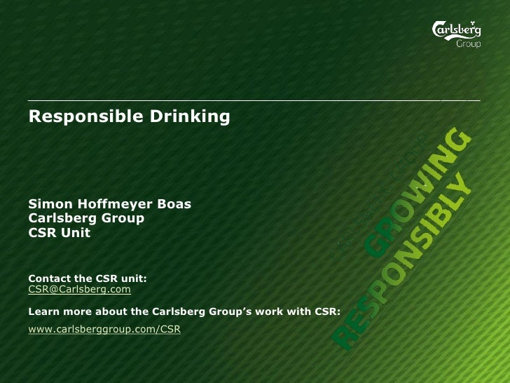 Carlsberg: Simon Boas, Group Responsible Drinking