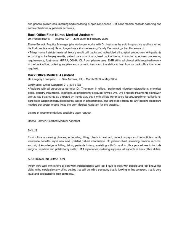 Phlebotomy Resumes Medical Assistant Phlebotomy Resume Sales Assistant  Lewesmr Sample Resume Medical Assistant Phlebotomist Migdalia Ferrers  Phlebotomy Skills For Resume