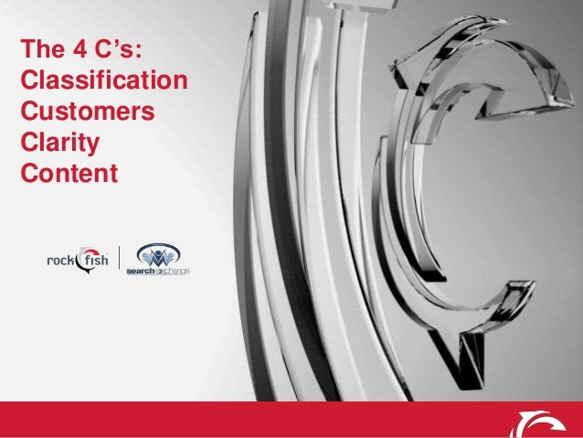 The 4 C's: Classification Customers Clarity Content