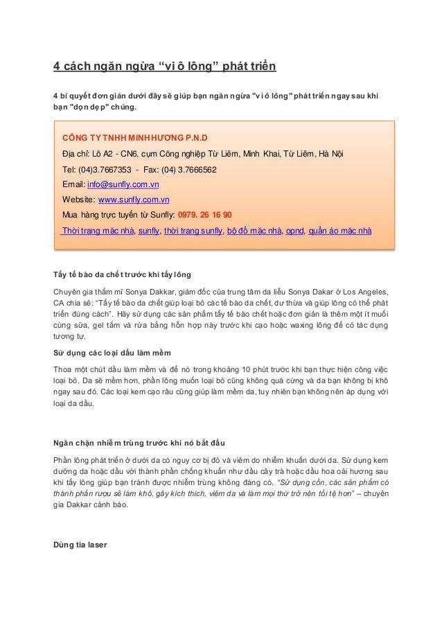 """4 cách ngăn ngừa """"vi ô lông"""" phát triển4 bí quyết đơn giản dƣới đây sẽ giúp bạn ngăn ngừa """"vi ô lông"""" phát triển ngay sau ..."""