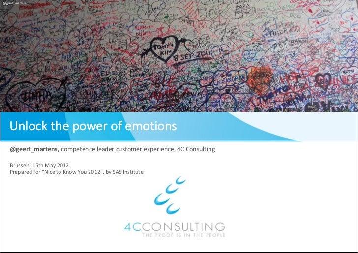 @geert_martens   Unlockthepowerofemotions   @geert_martens,competence leadercustomer experience,4CConsulting   Bru...