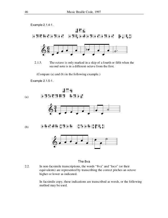 music braille code