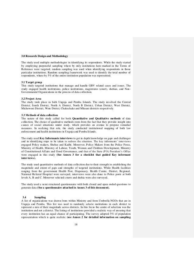 GBV CAPACITY GAPS ASSESSMENT IN ZANZIBAR