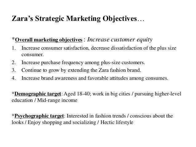 Marketing plan of Zara