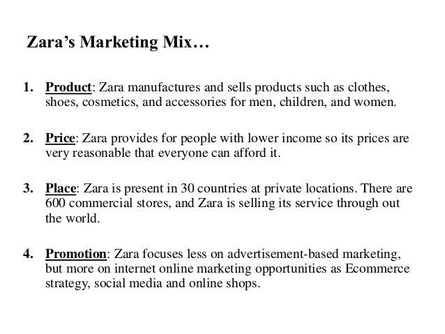 Zara marketing objectives