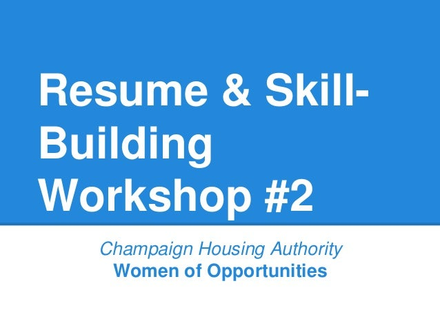 Resume Skill Building Workshop