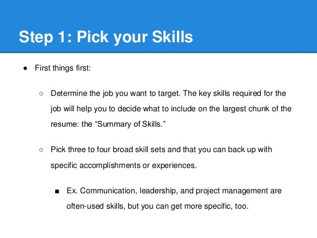 SlideShare  Things To Put On A Resume For Skills