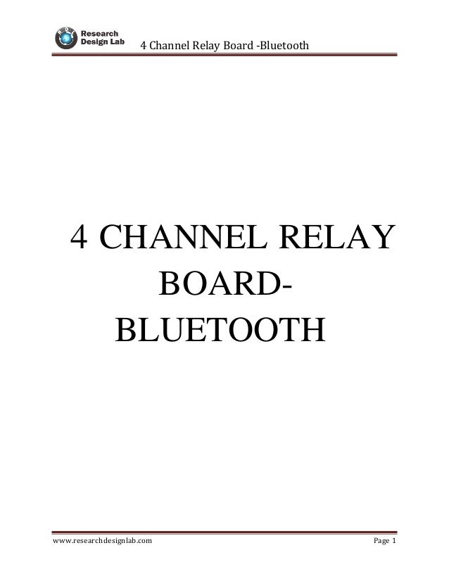 4 Channel Relay Board 5V-Bluetooth Compatible for Arduino