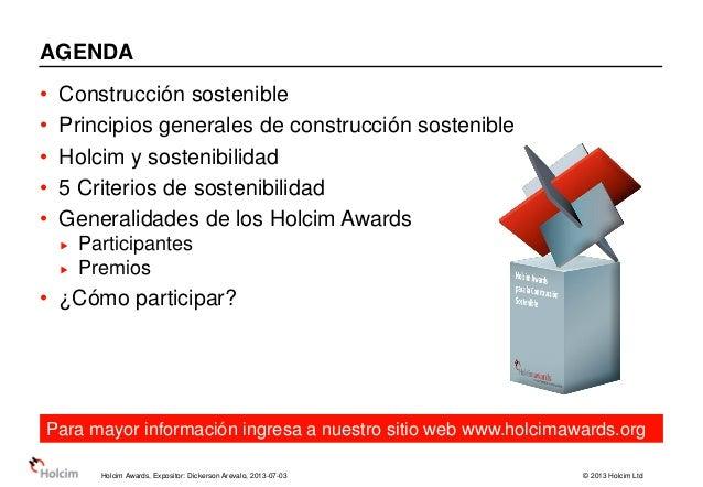 4° ciclo de holcim awards presentacion docentes Slide 2