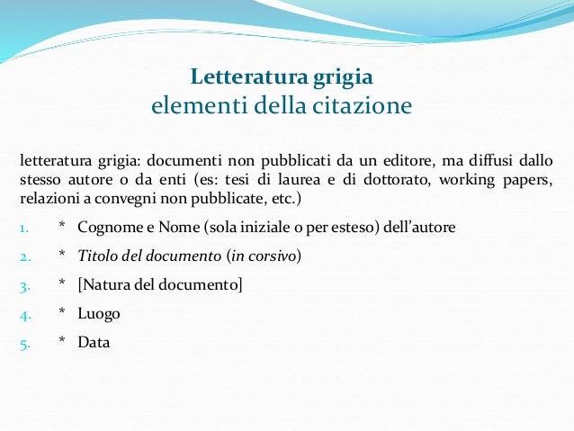 La Citazione Dei Documenti E La Compilazione Della