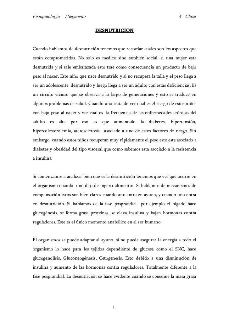 Fisiopatología - I Segmento                                                    4° Clase                                  D...