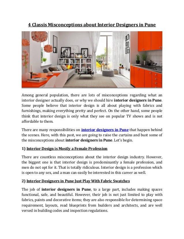 fedisa interior designer interior designer mumbai best online interior design websites 4 classis misconceptions about interior designers in pune rh slideshare net