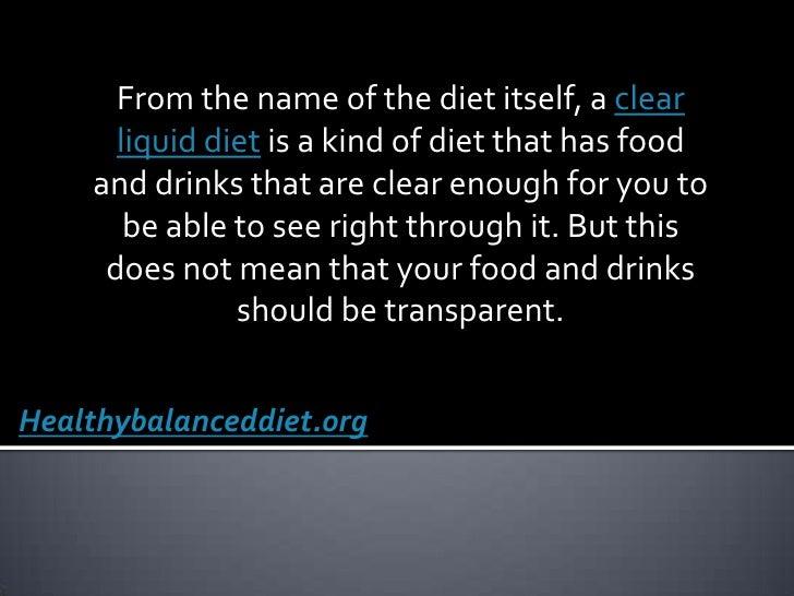 clear liquid diet foods