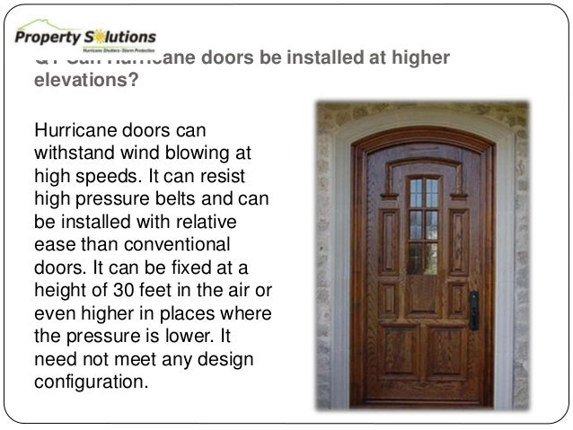 3. Q1 Can Hurricane doors ...  sc 1 st  SlideShare & 4 commonly asked questions related to hurricane doors
