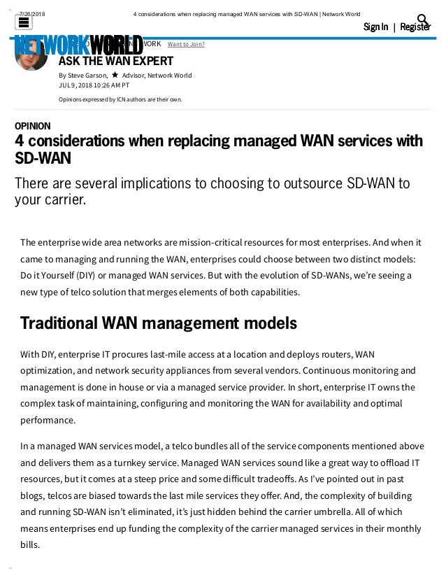 4 considerations when replacing managed wan services with sd wan