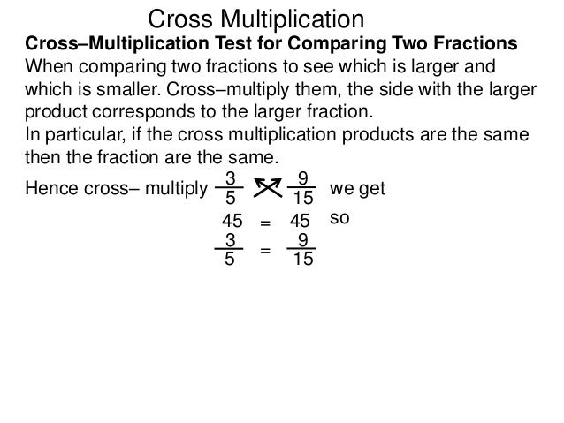 4 cross multiplication