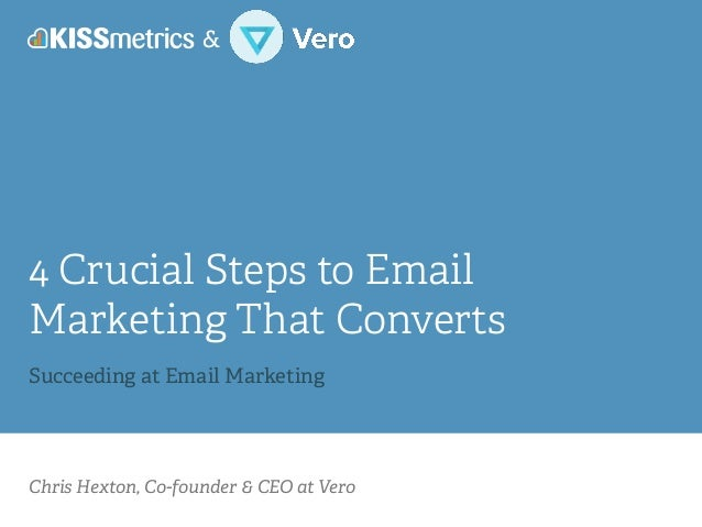 Chris Hexton, Co-founder & CEO at Vero 4 Crucial Steps to Email Marketing That Converts ! Succeeding at Email Marketing &
