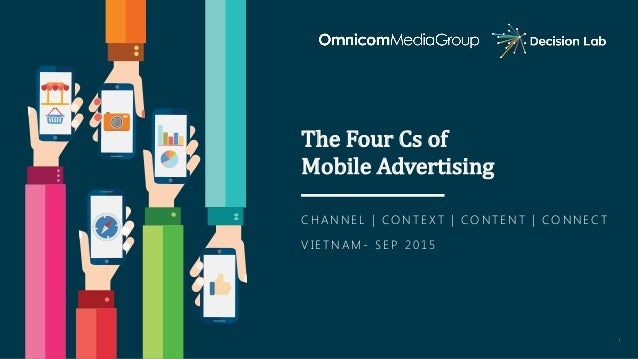 1 The	Four	Cs	of	 Mobile	Advertising C H A N N E L | C O N T E X T | C O N T E N T | C O N N E C T V I E T N A M - S E P 2...
