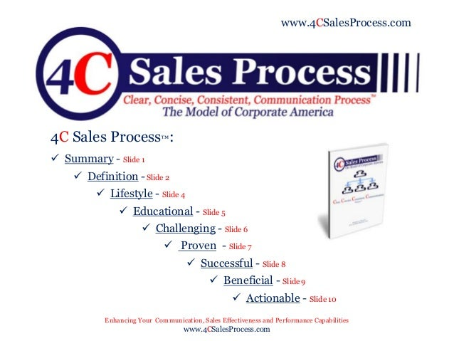 4 C Sales Process Power Point Presentation