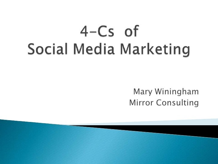 4-Cs  ofSocial Media Marketing Mary Winingham Mirror Consulting