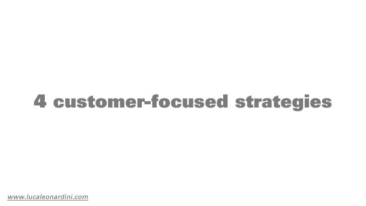 4 customer-focused strategieswww.lucaleonardini.com