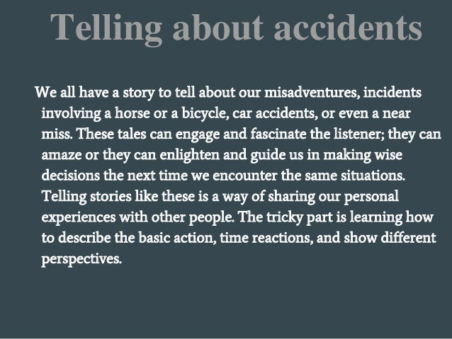 How to write a car accident story essays about sale associates