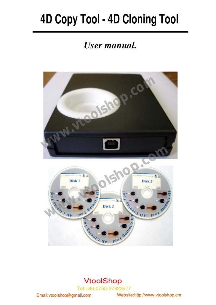 4D Copy Tool - 4D Cloning Tool                        User manual.                                           .c om        ...