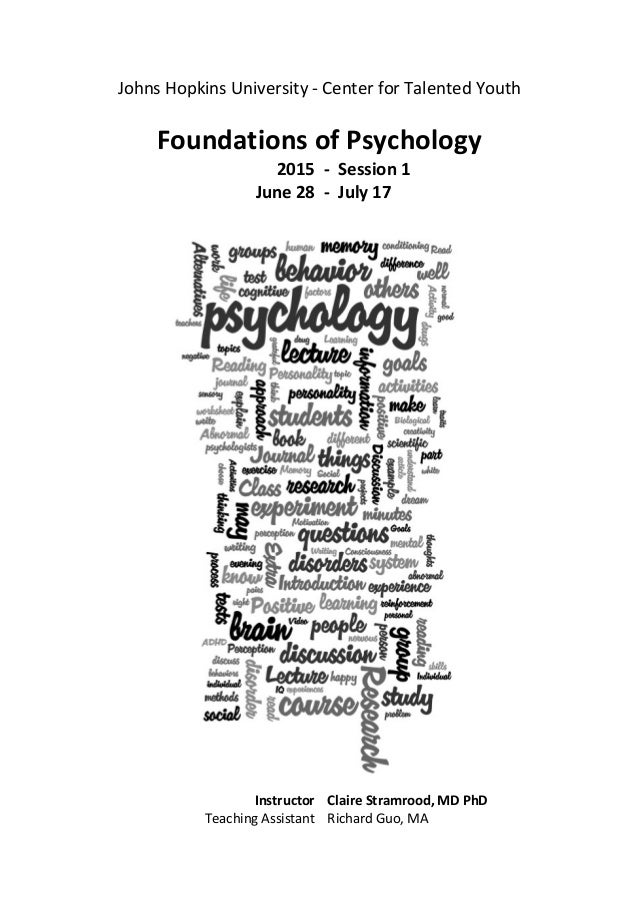 PSYC Syllabus - Bristol 2015 - Claire Stramrood - session 1 - final