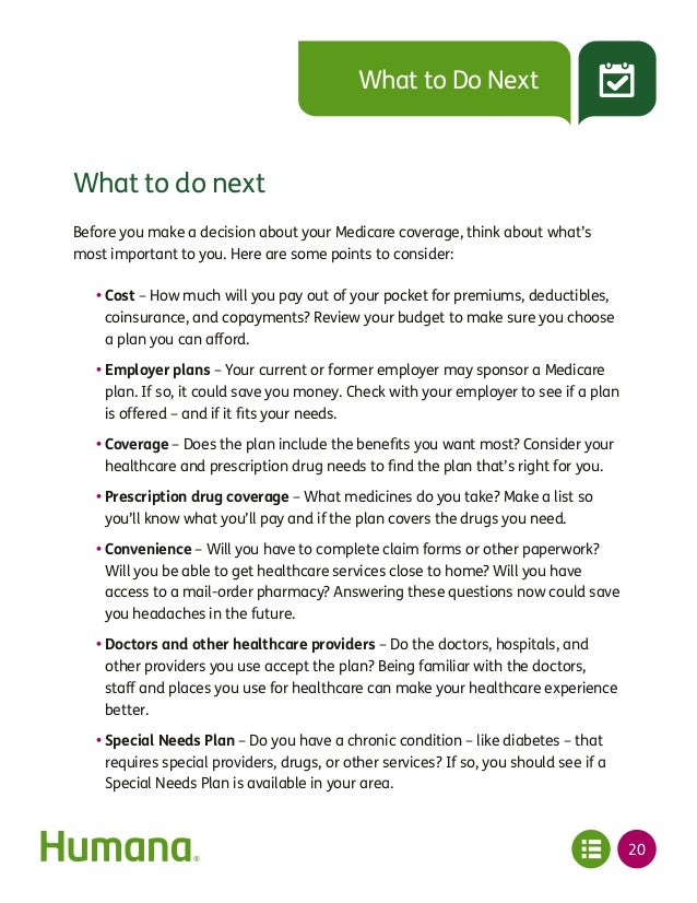 Plan for Medicare Know Your Options Humana