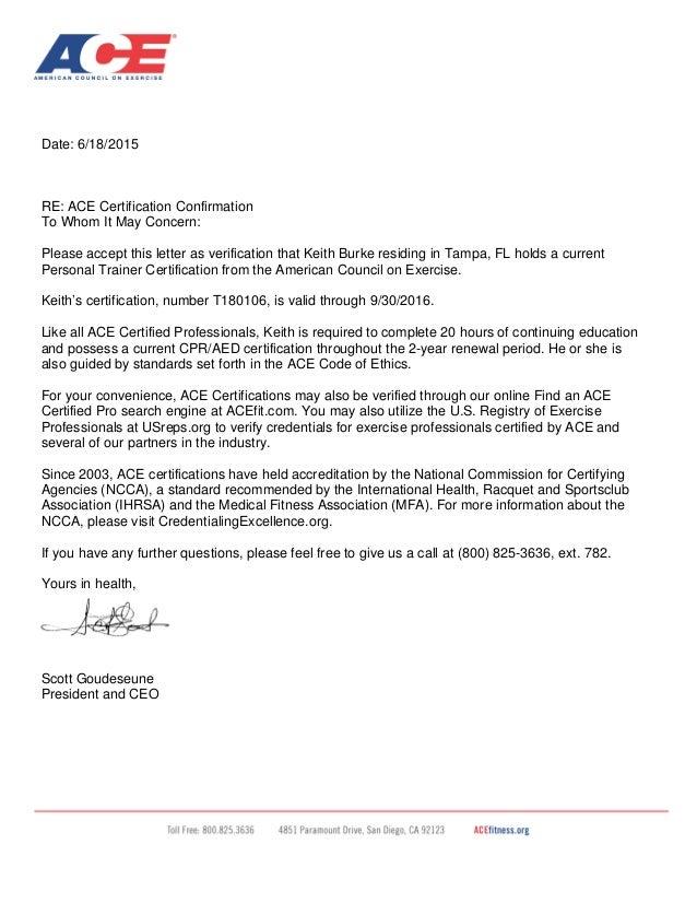 sample certification letters