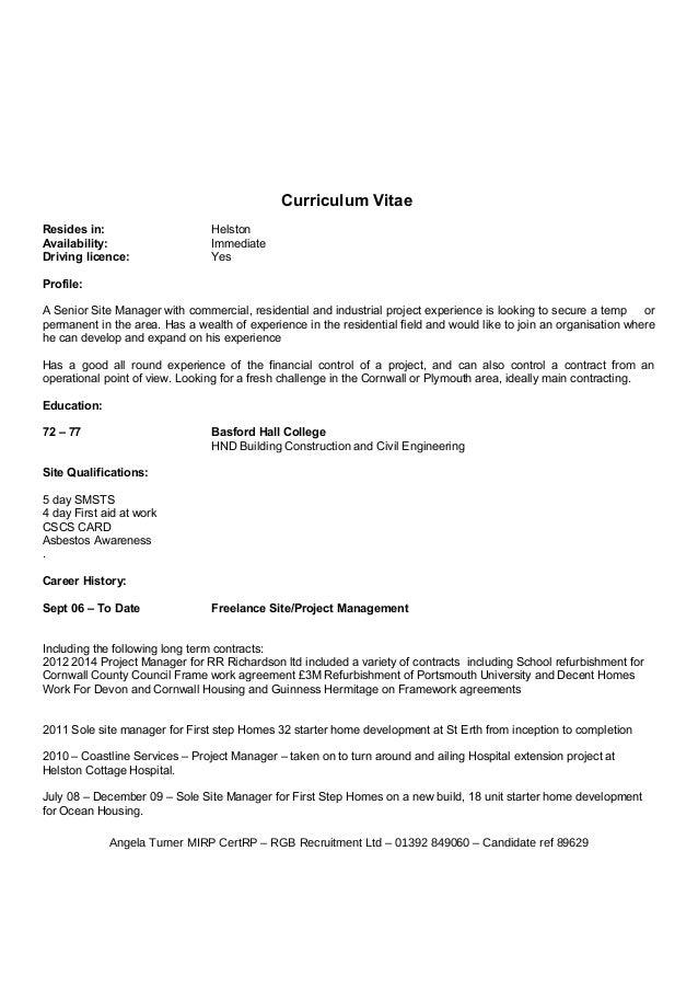 Dating CV exempel
