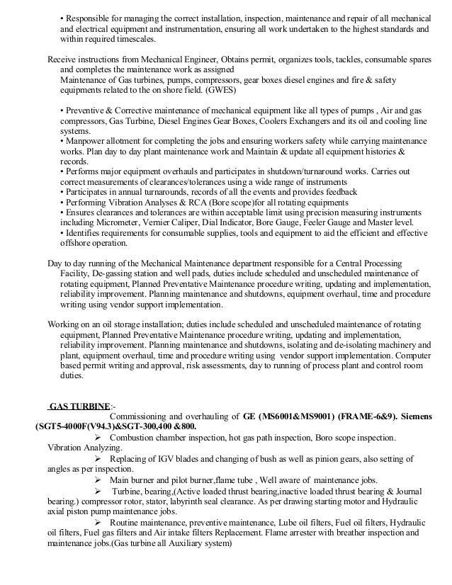Maintenance Director Job Description | Power Plant Maintenance Supervisor Job Description 17 5