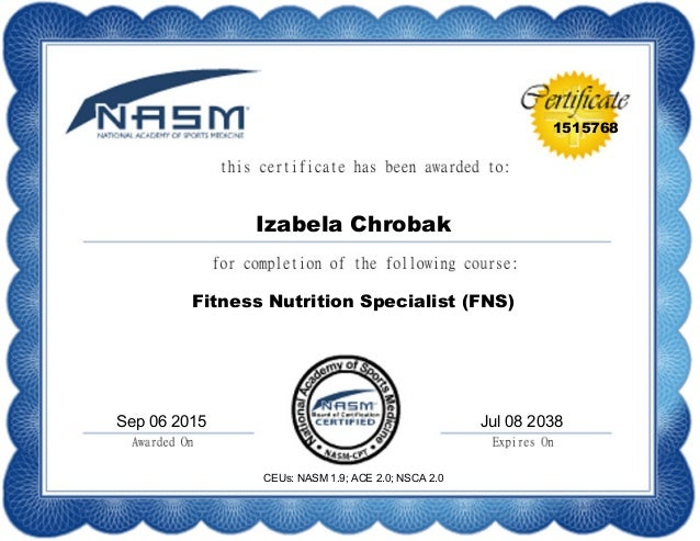 nasm certification logo - google search