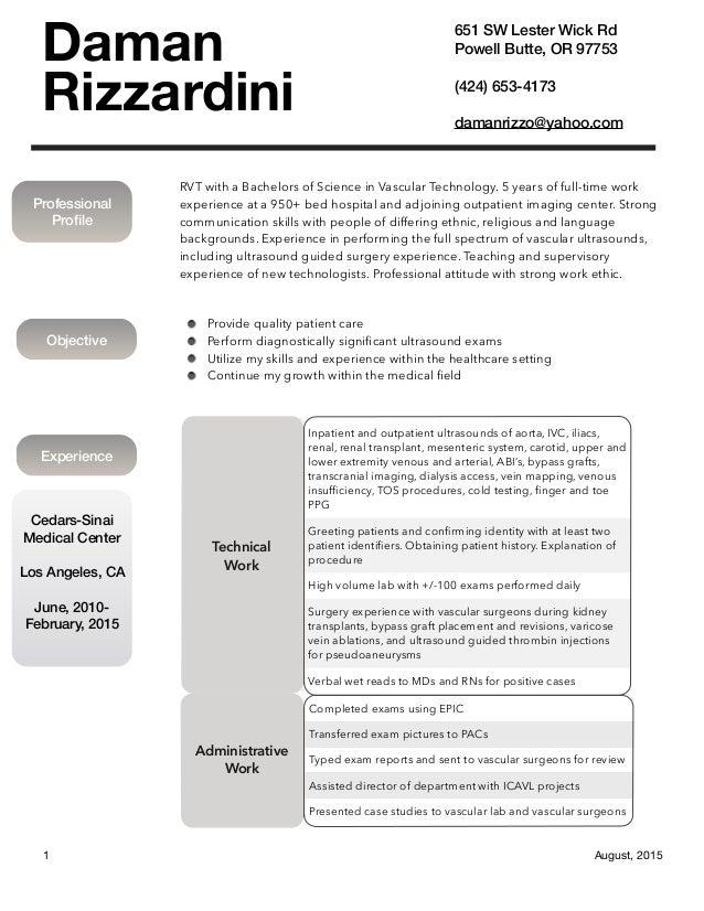 Daman Rizzardini CV PDF