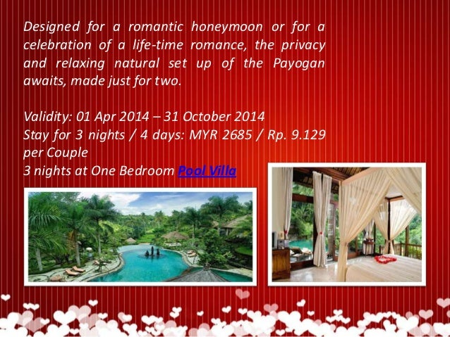 4D3N Bali Honeymoon Package At Payogan Villa Resort Spa