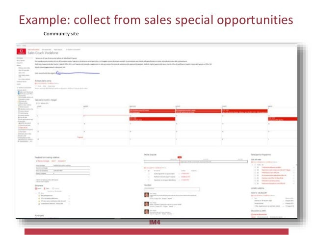 Example: collect from sales special opportunities The sales person quickly input opportunity data Periodically the list is...