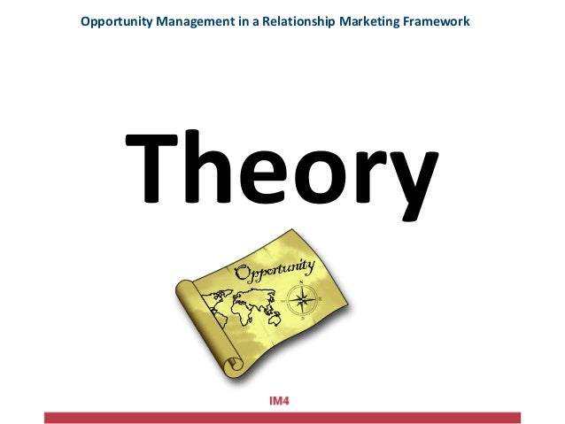 Theory Opportunity Management in a Relationship Marketing Framework