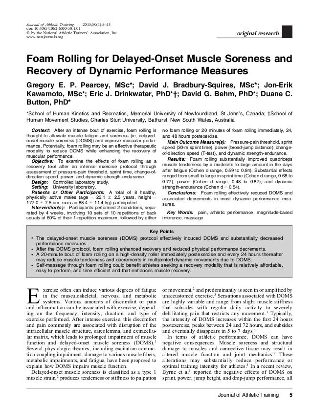 DOMS: Prevention And Treatment Of Delayed-Onset Muscle Soreness