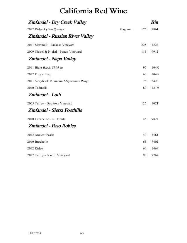 Casanova Wine List 11 12 14