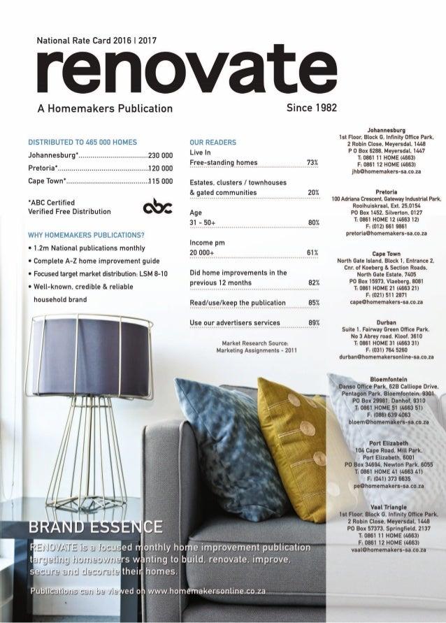 National Renovate Rate Card 2016 17 INCL Print