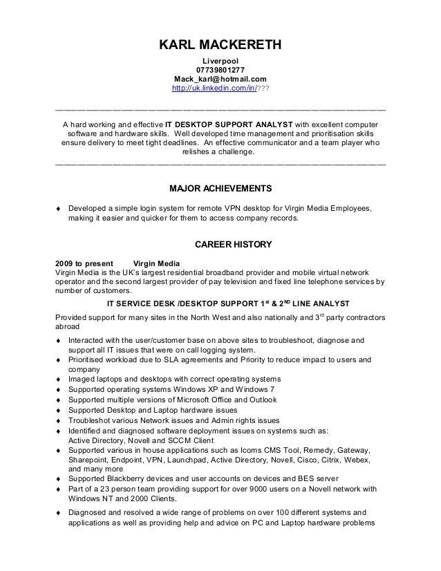 IT Support Analyst CV Template 1 Final