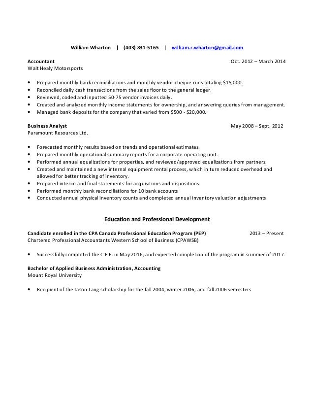 Wharton Business School Resume Sample  ContegriCom