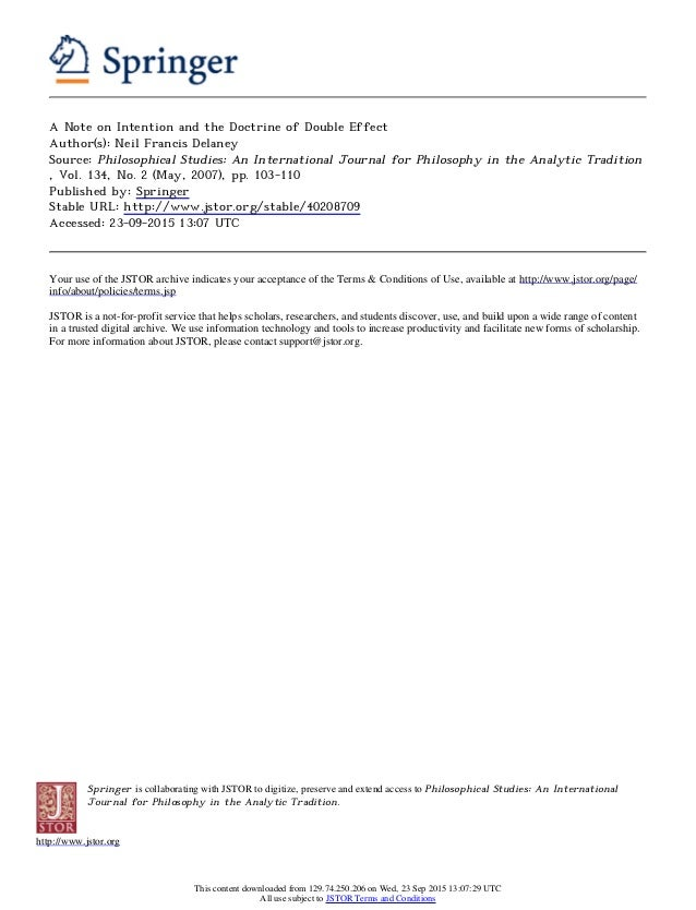Springer is collaborating with JSTOR to digitize, preserve and extend access to Philosophical Studies: An International Jo...