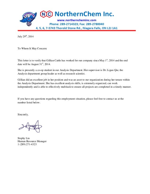Northernchem reference letter july 29th 2014 to whom it may concern this letter is to verify that altavistaventures Choice Image