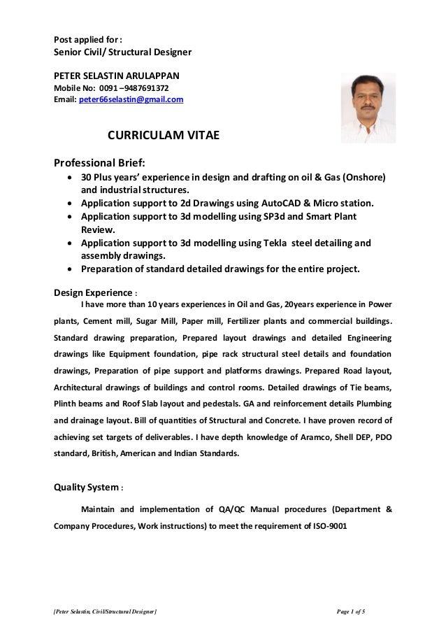 Civil - Structural Designer CV